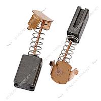Угольные щетки ЩЭ 5х8х12 пружинные, контакт пятак П-образный, две направляющих (№10)