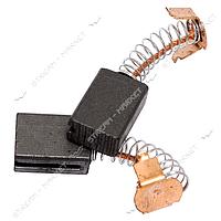Угольные щетки ЩЭ 6х10х14 пружинные, контакт пятак П-образный, одна направляющая. (№2)