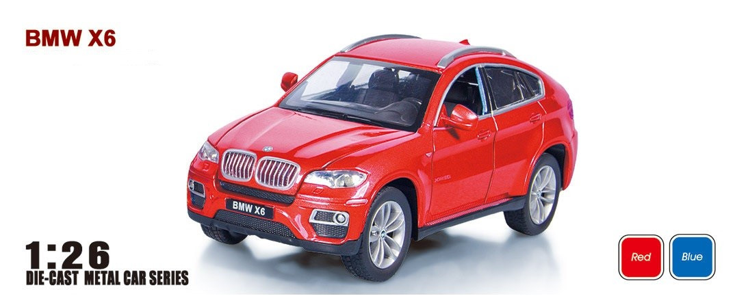 """Машина  металлическая  BMW X6 арт.68250A """"АВТОПРОМ"""", масш. 1:26"""