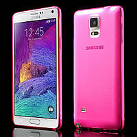 Чехол накладка силиконовый TPU Remax 0.2 мм для Samsung Galaxy Note 4 N910 розовый
