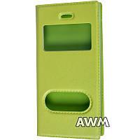 Чехол книжка с окошком для Apple iPhone 5/5S зелёный