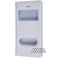 Чехол книжка с окошком для Apple iPhone 5/5S белый