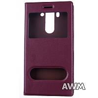 Чехол книжка с окошком для LG G3s (D724) / G3 mini коричневый