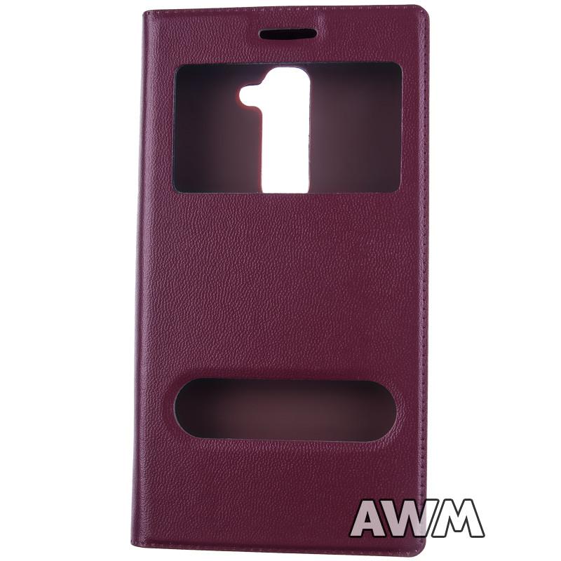 Чехол книжка для LG G2 (D802) с окошком коричневая - AWM в Одессе
