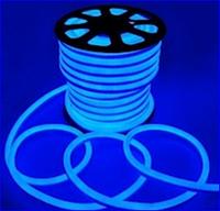 Неон на светодиодах синий,220в
