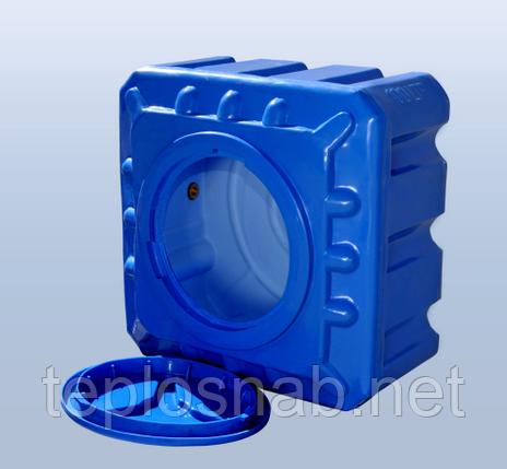 Пластиковый бак (емкость квадратная) RK 100 К/куб двухслойная, фото 2