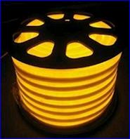Неон на светодиодах жёлтый,220в