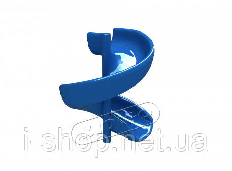 Горка cтеклопластиковая KIDIGO™ Спираль h-1,5 м SPU0315, фото 2