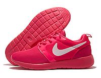 Кроссовки подростковые Nike Roshe Run розовые (найк роше ран)