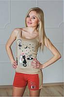 Женская пижама шорты майка