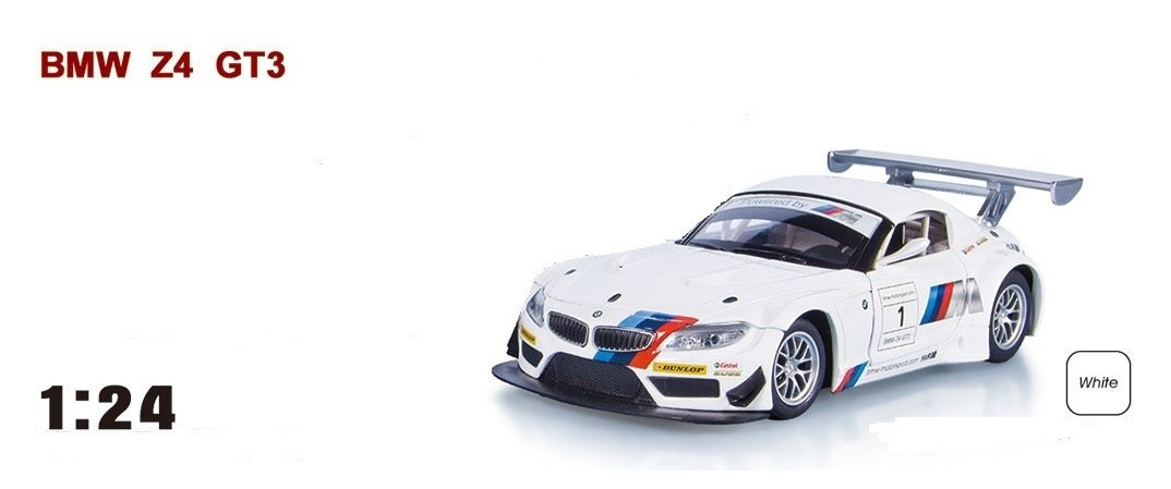 """Машина  металлическая  BMW Z4 GT3 арт.68260A """"АВТОПРОМ"""", масш. 1:24"""