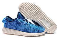 Кроссовки Мужские Adidas Yeezy 350 boost Low Blue, фото 1