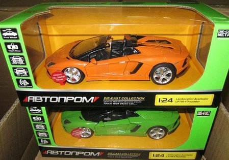 """Машина  металлическая  Lamborghini арт.68274A  """"АВТОПРОМ"""", масш. 1:24, фото 2"""