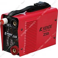 Kende MMA-250 Инверторный сварочный аппарат. Рег.тока 20 - 250 А. Электр. 1. 6 - 5. 0 мм. 3, 0 кг.