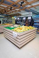 Стеллаж горизонтальный для расфасовки и демонстрации овощей и фруктов на 12 ячеек