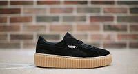 Мужские кроссовки Puma x Rihanna Suede Creepers черные