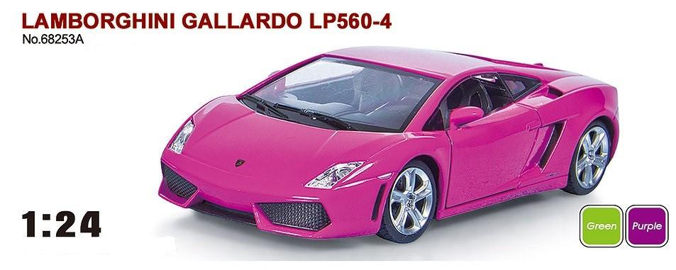 "Машина металева Lamborghini Gallardo арт. 68253A ""АВТОПРОМ"", масш. 1:24"