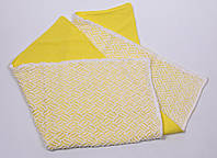 Ажурный вязанный плед на трикотаже , желтый