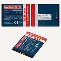 Батарея (аккумулятор) Avalanche BST-33 для Sony Ericsson V800/W300i/W900i/W950 (700 mAh), оригинал