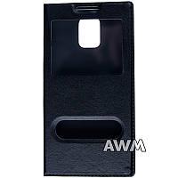 Чехол книжка с окошком для Samsung Galaxy S5 (G900H) чёрный