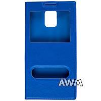Чехол книжка с окошком для Samsung Galaxy S5 (G900H) синий