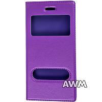 Чехол книжка для Apple iPhone 6 / iPhone 6S с окошком фиолетовая