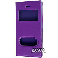 Чехол книжка с окошком для Apple iPhone 5/5S фиолетовый