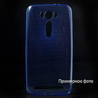 Чехол накладка силиконовый TPU Remax 0.2 мм для Samsung Galaxy Core Prime Duos G360 синий