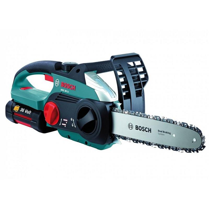 Электрическая цепная пила Bosch AKE 30 LI, 0600837100