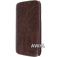 Чехол-книжка Oscar II для Samsung Galaxy S4 Active (I9295) коричневый