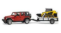 Игрушка Bruder Внедорожник Jeep Wrangler Unlimited Rubicon с мини погрузчиком CAT 1:16  (02925)