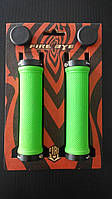 Ручки руля FireEye Goosebumps-R 130 мм с замками зеленый