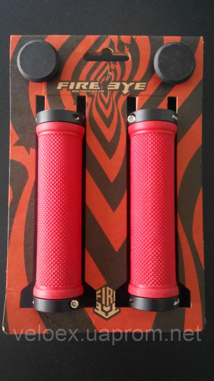 Ручки руля FireEye Goosebumps-R 130 мм с замками красный