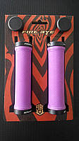 Ручки руля FireEye Goosebumps-R 130 мм с замками фиолетовый
