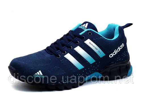 Кроссовки мужские Adidas Marathon TR 21, текстиль, синие с бирюзовым