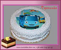 Торт автобус Тайо