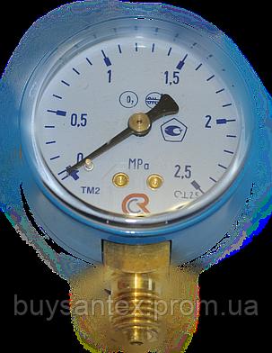 Манометр МП-50  2,5 МПа (кислород) 25 атм, фото 2