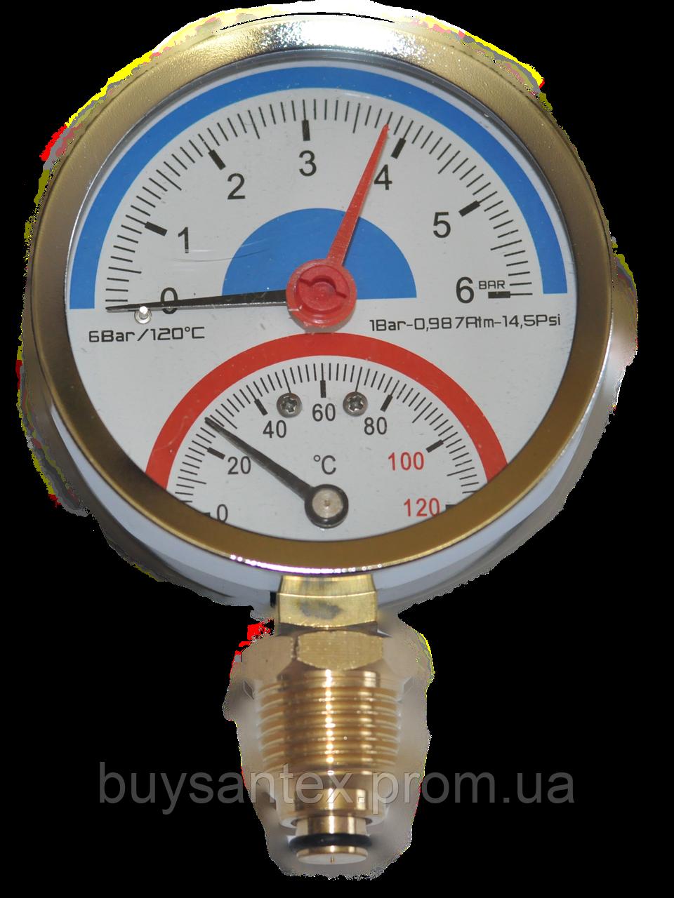 Термоманометр 6 атм