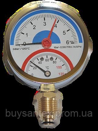 Термоманометр 6 атм, фото 2