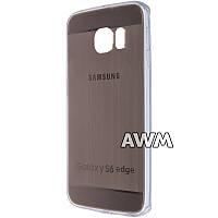 Чехол-накладка для Samsung Galaxy S6 Edge золотая