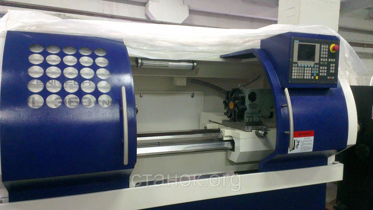 Zenitech WL 380 - 750 Токарный станок с ЧПУ по металлу Siemens 88 D зенитек вл 360 CNC