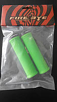 Ручки руля FireEye Goosebumps-C 130 мм с замками зеленый