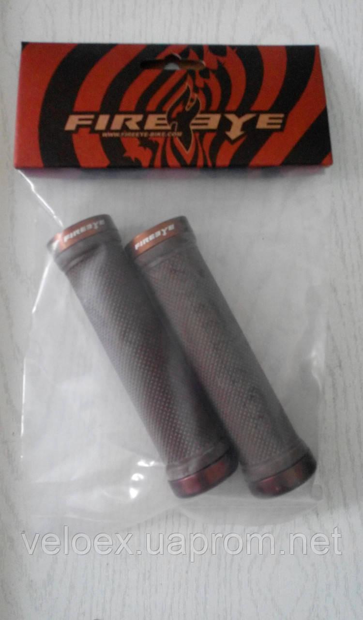 Ручки руля FireEye Goosebumps-C 130 мм с замками коричневый