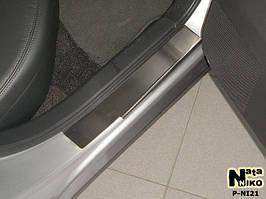 Накладки на пороги Premium Nissan Teana 2007-