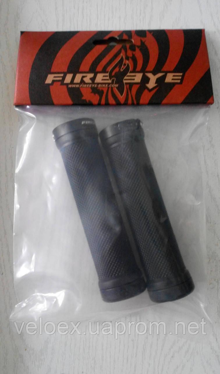Ручки руля FireEye Goosebumps-C 130 мм с замками черный