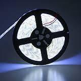 Лента светодиодная в силиконе 5050, (60 светодиодов) 5 метров катушка White COLD