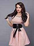 """Модное молодежное платье декорировано поясом  - """"Камея"""" код 385, фото 4"""