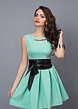"""Модное молодежное платье декорировано поясом  - """"Камея"""" код 385, фото 7"""