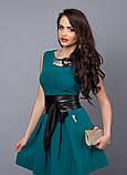 """Солнечное летнее платье декорировано кожаным поясом  - """"Камея"""" код 385, фото 8"""