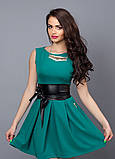 """Модное молодежное платье декорировано поясом  - """"Камея"""" код 385, фото 9"""